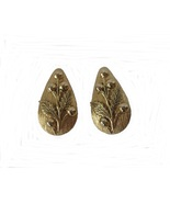 Vintage Whiting and Davis Clip On Earrings Gold... - $14.45