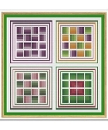 Variations On Rail Fences cross stitch chart Cross Stitch Cards - $9.00