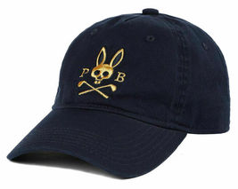 Psycho Bunny Men's Cotton Embroidered Strapback Sports Baseball Cap Hat image 14