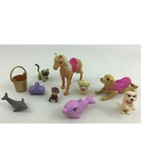 Barbie 10pc Lot Animals Pets Dog Horse Replacement with Accessory Pieces... - $18.76