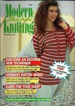 Modern Machine Knitting Sept 1988 Magazine Sideways Knitted Skirts & more - $5.69
