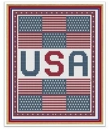 Stars & Stripes cross stitch chart Cross Stitch Cards - $9.00