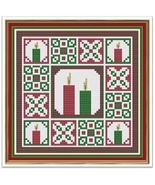 Christmas Candles cross stitch chart Cross Stitch Cards - $9.00