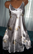 White Yellow Flowers Chemise Short Gown 1X Plus Size Adjustable straps - $12.50