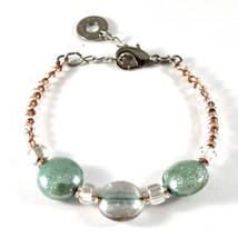 Bracelet Antica Murrina Venezia with Murano Glass Pink and Green BR687A38 image 1