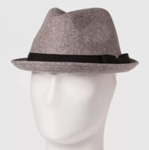 Neu Goodfellow & Co Herren Grau Polyester Wollmischung Fedora M/L Oder L/XL