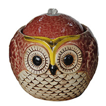 Ceramic Multi Color Owl Bubbling Indoor Meditation Tabletop Water Fountain - $69.95