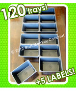 "120 TRAYS, 3""x5"" Seedling Seed Starter Flat +5 PLANT LABELS!  NEW SOWING... - $16.99"