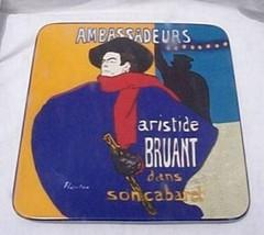 Lautrec Ambassadeurs Square Platter Museum Mast... - $19.95