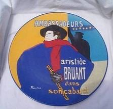 Lautrec Ambassadeurs Round Platter Museum Maste... - $19.95