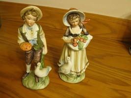 Vintage Pair Lefton Figurines Farm Geese #6988 ... - $19.50