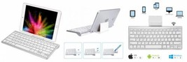 CHESONA Bluetooth Keyboard Ultra Slim Sliding Stand Universal Wireless...  - €22,23 EUR