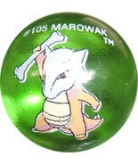 POKEMON MARBLE MAROWAK #105 Colored GLASS MARBLE - $7.98