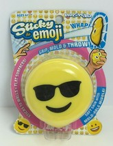 HogWild Yellow Sticky The Emoji W/SunGlasses Stikball W/ Mold-Able Middle image 2