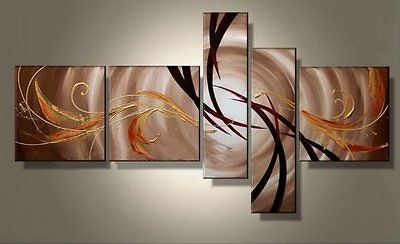 Primary image for 5 Pc Wall Painting Modern Decor Canvas Framed Art Ready to Hang Abstract
