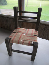 """Vintage Doll or Stuffed Animal 18"""" Tall Wooden Chair - $26.27"""