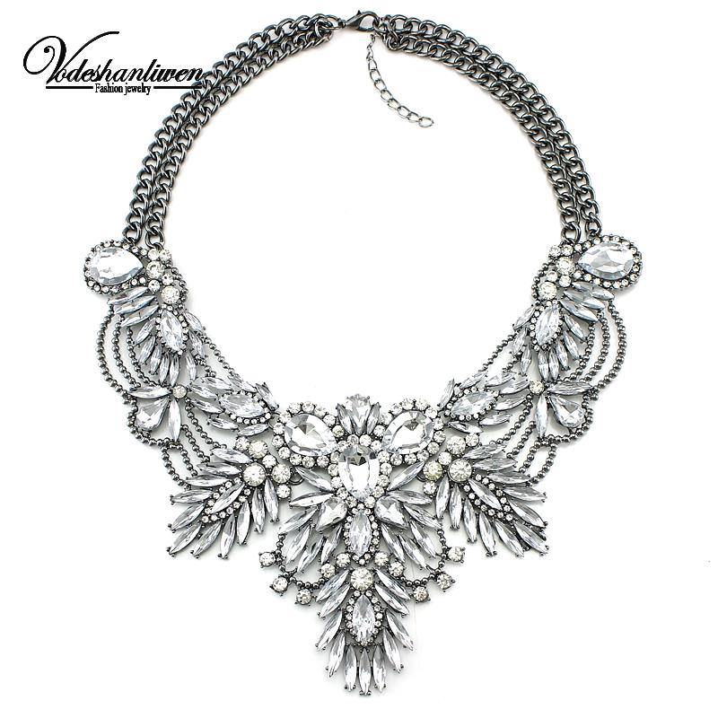 Ystal bridal collar necklace s pendants fashion women rhinestone wedding maxi statement necklace