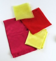 Red & Yellow Scarves, Vintage Mixed Lot of 4, Mademoiselle Long Scarf 21... - $13.85