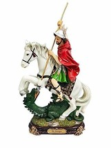 "14"" Saint George Statue Santo San Jorge Military Saint Dragon - $45.00"