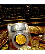 """SPAIN 4 ESCUDOS """"FULL DATED 1590!"""" PCGS 50 FINEST KNOWN GOLD DOUBLOON CO... - $9,950.00"""