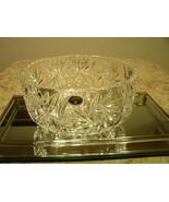Gorgeous Czech Republic Bohemia Deep Cut Footed Crystal Bowl - $49.01
