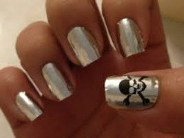 Sephora By Opi Chic Print For Nails - Silver Skulls Rare - $12.99