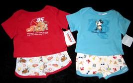 BOYS 6-9 MONTHS  Disney Mickey Mouse Aloha & Disney Pixar Cars Red TWO P... - $8.99