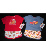 BOYS 3-6 MONTHS  Disney Pixar Cars Red & Lightning McQueen Blue TWO PLAY... - $8.99