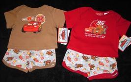 BOYS 6-9 MONTHS  Disney Pixar Cars Red & Lightning McQueen Brown TWO PLA... - $8.99