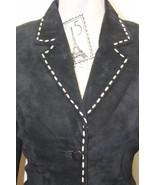 Sexy Leather Danier Black Blazer With Leather Thread Accent XS Canada - $74.44