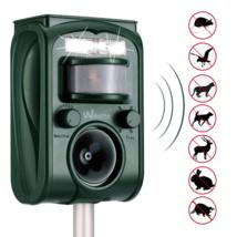 Ultrasonic Pest Repeller Solar Powered Waterproof Outdoor Animal Motion ... - $45.24