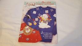 Vintage Daisy Kingdom No Sew Christmas Fabric Applique #6971 Hug A Snowman Usa - $4.94