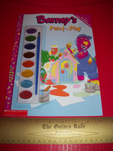 Barney Craft Activity Book Paint & Play Scholastic Water Painting Educat... - $3.79