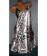 Silver Blk Pnk Abstract Chemise Short Gown 1X 2... - $12.50
