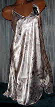 White Taupe Floral Chemise Short Gown 1X 2X 3X Plus Size Adjustable straps - $12.50