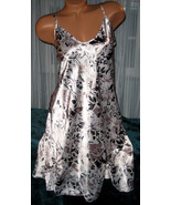 White Taupe Black Chemise Short Gown 1X Plus Size Adjustable straps - $12.50