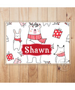 Kid's Personalized Placemat, Christmas Laminated Placemat With Child's N... - $13.37