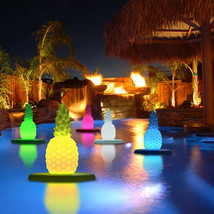 NEW! LED FLOATING COLOR PINEAPPLE - POOL FLOAT LIGHT SHOW - MOOD GLOWING... - $72.22