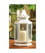 "2 White Lantern Small 10"" Candle Holder Wedding Centerpieces - $23.95"