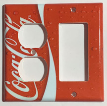 Coke Coca Cola Logo Light Switch Power Outlet wall Cover Plate Home decor image 8