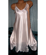 White Tiny Red Polka Dots Chemise Short Gown 1X... - $12.50