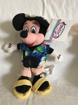 Disney Store Tourist Mickey Mouse 8 Inch Bean Bag Plush Doll NWT - $12.86