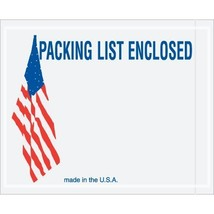 American Flag Packing List Enclosed Envelope(s), 4 1/2 x 5 1/2 - 1000 pe... - $64.99