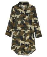 Women Blouse Shirt Spring Autumn Camouflage Long Sleeve Collar Button Tops - $17.99