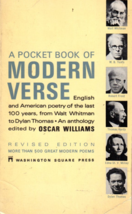 A Pocket Book of Modern Verse  (Paperback) Washing Square Press-1969 - $3.85