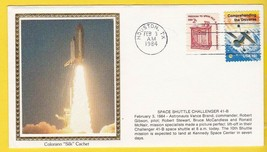 SPACE SHUTTLE CHALLENGER 41-B LAUNCH HOUSTON TEXAS 2/3/1984 COLORANO SILK - $2.98