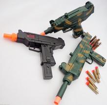 3x Toy Machine Guns MEGA SET! Lg. UZI Dart Rifle + UZI Dart Pistol + UZI... - $32.76
