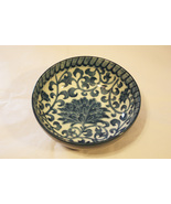 Decorative Blue + White Scroll & Striped Bowl - $12.99