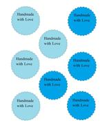 Scallop Handmade with Love17-Download-ClipArt-ArtClip-Digital Tags-Digital - $4.00