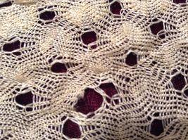 Antique Delicate Handmade Crocheted Silk Wrap image 6